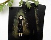 30% Off Halloween Sale - Ofelia - Postcard