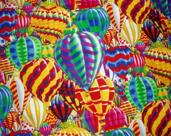 Bright Colorful Hot Air Balloon Cuddle/Throw Quilt/Blanket