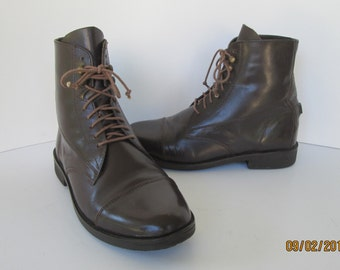 Kirby Womens Lace Up Brown Leather Paddock Boots 7.5