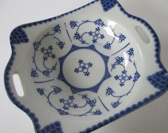 Indian Blue Porcelain Dish