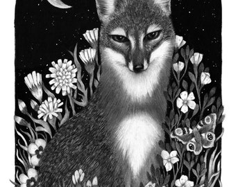 Island Fox Giclee Print 11x14