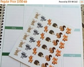 Huge Sale Planner Stickers 36 Woodland Animals Stickers Life Planner Day Planner