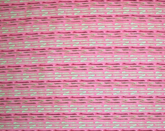COUPON CODE SALE - Free Spirit, Enchantment, Hitched, Coral, Kathy Davis, 100% Cotton Quilt Fabric, Pink Quilting Fabric