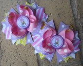 Daisy Duck inspired Piggies 2 Pigtail Bows Custom Boutique Hair Bow for Disney World Vacation or Birthday Party