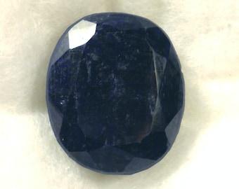 280 carat  ...  faceted sapphire gemstone ... 39 x 33 x 19 MM