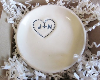 custom ring dish, wedding ring holder,  engagement gift,  Personalized couple ring dish, his and hers dish