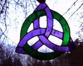 Celtic Trinity Knot Triquetra Celtic Knot Trinity Irish Scottish Stained Glass Green Purple Mother Pagan Wiccan Spirit Yule Halloween
