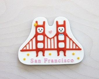 Golden Gate Twins Magnet