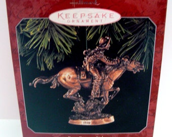 Hallmark Pony Express Rider Keepsake Ornament Old West Horse Series Duane Unruh