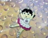 Dora Ballerina enamel Charm Pendant