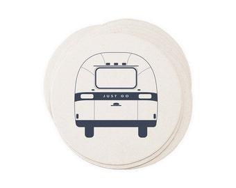 Airstream Camper - Letterpressed Paper Coasters