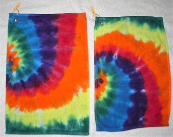 Golf Towels, tie dyed, 100% cotton. GT7,8.