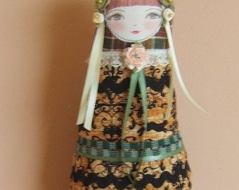 Cloth Doll, Collectible, Matryoshka, Nesting Doll, Room accent, Bookend, Baby Shower