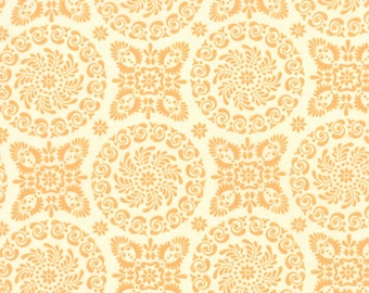 Orange Medallion Flower Refresh Fabric - Sandy Gervais - Moda - 17861 22