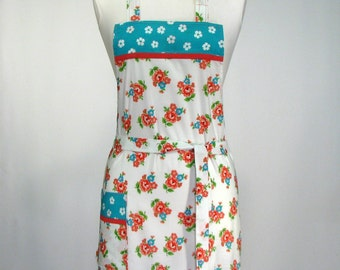 Women's Chef Apron, Classic, Handmade Full Apron Fresh, Flirty Fun