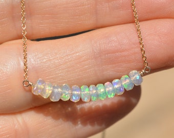 Ethiopian Opal Bar Necklace