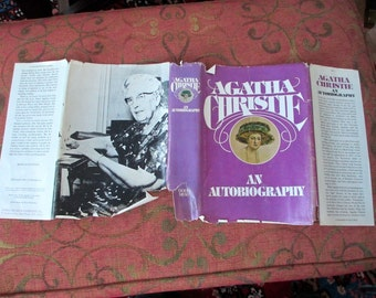 Agatha Christie An Autobiography 1977  25 photos  Crime. Mystery. Fiction. Hardback. Biography. Hercule Poirot. Miss Marple. Dame Agatha.