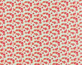 SPRING SALE - 1 yards - Little Ruby -  Little Rosie in Aqua (55138-12) - Bonnie and Camille for Moda Fabrics