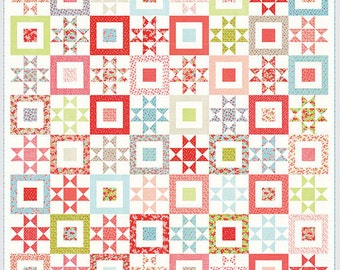 SALE - PRE-ORDER - Quilt Kit - The Simple Life with Little Ruby fabric by Camille Roskelley - Moda