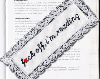 Subversive Cross Stitch Bookmark Kit: F*ck Off, I'm Reading