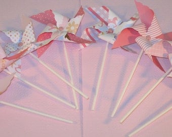 Pink Baby Girl Pinwheels - Martha Stewart Collection  (8)