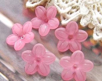 10 pcs 20mm - Frosted five petal flower bead (FL015-H)