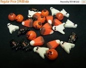 CLOSING SALE DESTASH - Assorted Fall Polymer Clay Beads