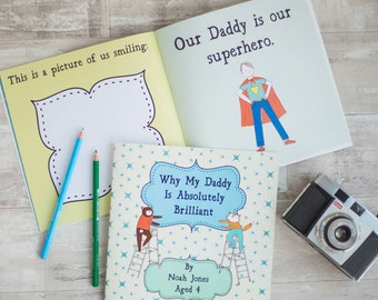 Why My Daddy Is Brilliant - Personalised Gift for Daddy, Custom Birthday Gift for Father, Ideal New Dad Gift
