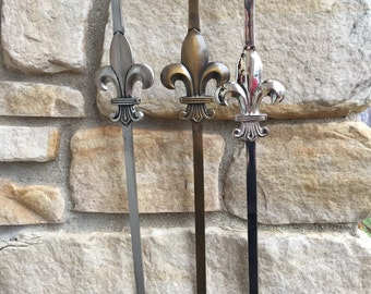 Wreath Holder, Decorative Hangers, Accessories for Wreaths, Fleur de Lis Wreath Holder Door Hook, Bronze Door Hook,Nickel Door Hook