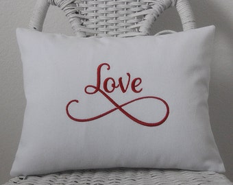 Love Pillow Cover Valentine Pillow INSERT INCLUDED. Choose your  Fabric Color.