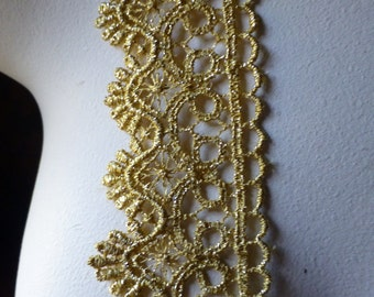 GOLD Lace in Metallic Venise Style for Lyrical Dance, Crowns, Bridal,  Costume Design GL 16