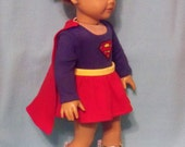 REDUCED/ 18 inch Doll Supergirl Outfit