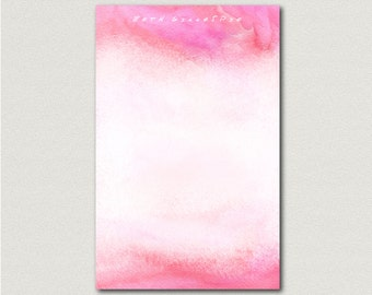 Personalized Watercolor Art Print Notepad Teacher Gift Coworker Gift or Office Supply