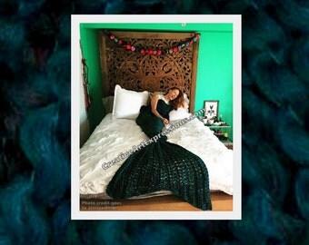 Mermaid Blanket Crocheted 60+ colors Adult/Teen Made To Order