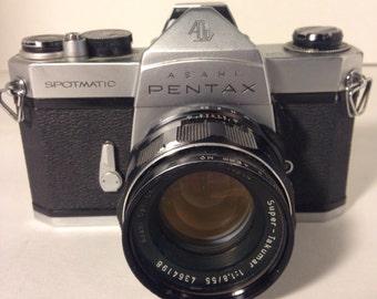 Vintage Pentax Camera Pentax Spotomatic 35mm Camera