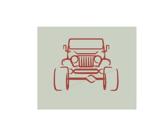Jeep Wrangler Embroidery Design