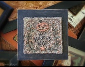 Punchneedle | Pattern | Needlwork | DIY | Crafts | All Hallows Eve | PN092