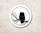 Halloween Owl Stickers Envelope Seals Halloween Party Treat Bag Stickers SPH001