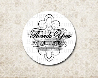 Custom Thank You Stickers Personalized Business Stickers - Thank You Crown Business Supplies SP014