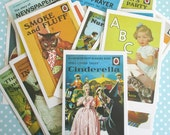 CLEARANCE - Reproduction Vintage Ladybird Book Postacards for Scrapbooking, Junk Journals, Papercraft, project Life - Random Set of 5