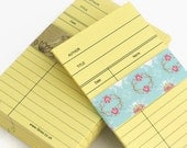 CLEARANCE 25 x YELLOW Library Book Cards, Blank Library Cards, Journal, Daily Planner Cards, Wedding Invitations, SALE Shop Closing