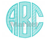 Machine Embroidery Design Embroidery Natural Circle Monogram Patterns-Graph Font INSTANT DOWNLOAD