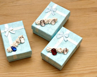 Gift box, jewelry box, decoden, sweets deco, kawaii box, bling, ring case, nail case, fake nails case, gift for girl, gift for friends