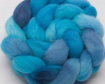 Cheviot 100g hand painted British wool tops roving fibre fiber Bamburgh