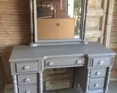 Gorgeous Grey Vanity-Antique