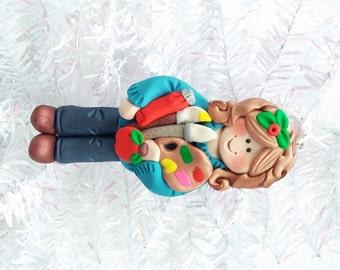 Art Teacher Christmas Ornament - School Christmas Tree Ornament - Art Teacher's Gift - Polymer Clay Ornament - Artist Ornament - 8112
