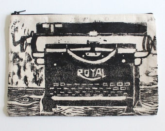 Typewriter Zip Pouch - Purse - Tote