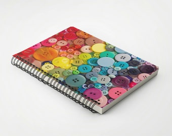Rainbow Buttons Notebook