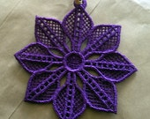 Lace Christmas Decoration Purple Flower