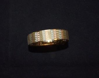 1980's Italian Mixed Metal Bracelet -Copper-Silver-Brass